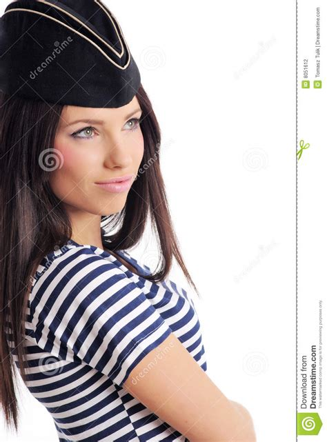 captain beautiful beautiful in captain s hat stock photography image