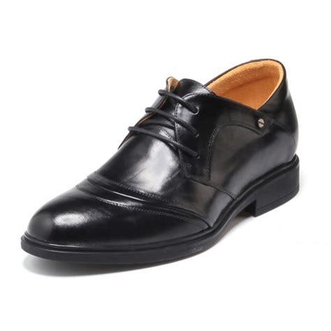 comfortable black dress shoes comfortable black cow leather elevator dress shoes 5 5cm