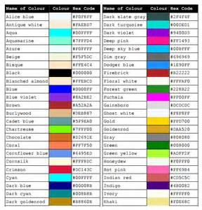 color css css color chart 7 free sles exles format