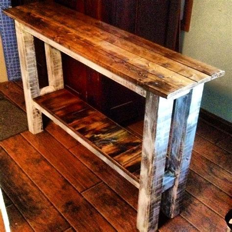 Nice rustic sofa table entry table 170491 home design ideas