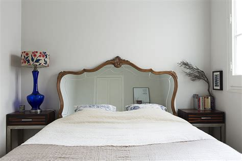 antique mirror headboard mirrored headboard photos design ideas remodel and