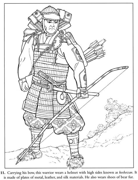 Samurai Warrior Coloring Page Free Sle Dover Samurai Coloring Pages
