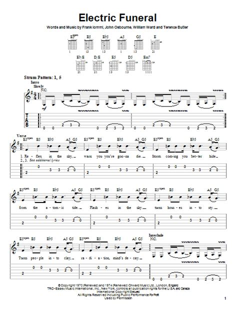 The Funeral Guitar Chords