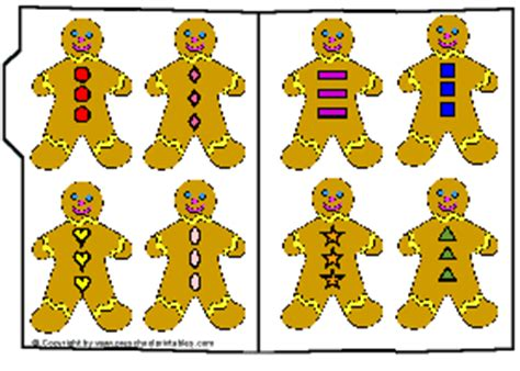 printable gingerbread man game preschool printables file folder gingerbread buttons