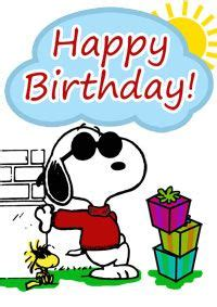 Snoopy birthday cards free snoopy birthday card print it now more