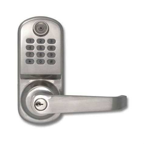 Door Lock Code resortlock 800 code lighted keypad digital remote code single cylinder silver door lock rl2000n