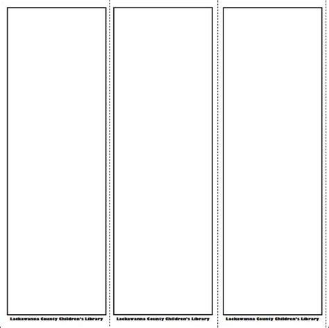 free bookmark templates blank bookmark template pinteres
