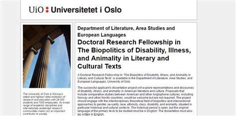 in sickness and in health disability and a quest to understand the perils and pleasures of interabled books of oslo doctoral research fellowship in the