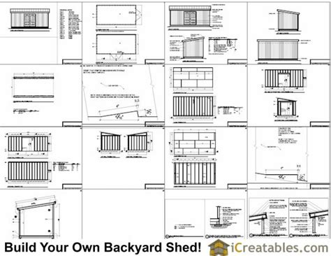 10x20 Storage Shed Plans Free by 10x20 Lean To Shed Plans Icreatables