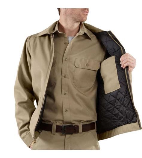 Mens Quilted Work Jackets by Carhartt S Big Blended Twill Work Jacket Quilt Lined Work Utility