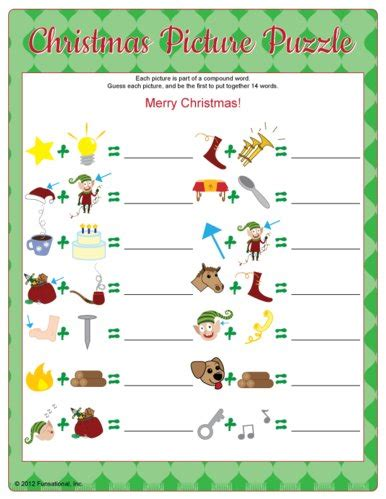 free printable office christmas games for interactive yuletide picture puzzles pictures and