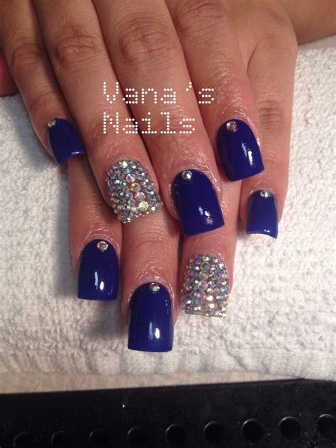 imagenes de uñas acrilicas azul rey royal blue acrylic nails bling nails u 241 as acr 237 licas azul