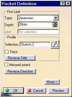 catia v5 video tutorial 2 sketch pad pocket pattern pocket