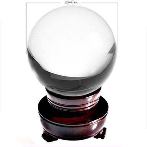 Usa Home Decor by Ship From Usa 200mm Rare Clear Asian Quartz Feng Shui Ball