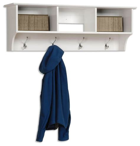 Entryway Cubbie Shelf With Coat Hooks entryway wall mount coat rack w 3 cubbies in contemporary wall hooks by shopladder