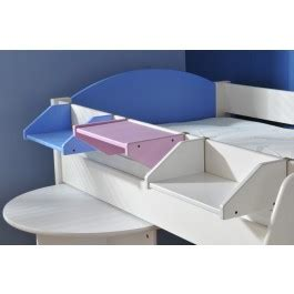Stompa Clip On Shelf by Stompa Bedside Shelf Blue Lilac White