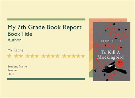 Book Reports For 7th Grade