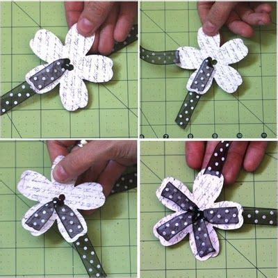 Floral Embellishments For Your Scrapbook Layouts by Ribbon Flower Embellishment So Gonna Make This Actually