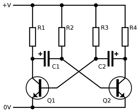 transistor multivibrator transistors how to make blinking led without using any ic electrical engineering stack exchange
