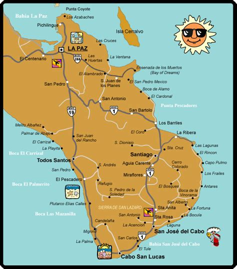 san jose mexico hotel map cabo san lucas area maps