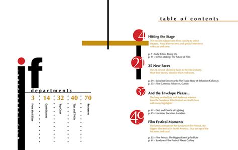 design inspiration table of contents 30 sle table of contents design for inspiration best