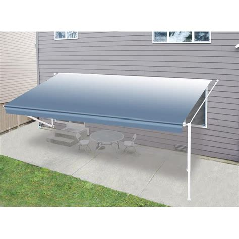 rv patio awning aleko 10 x8 retractable rv patio canopy