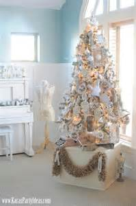 burlap white christmas tree theme christmas pinterest