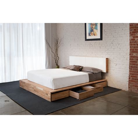modern bed with storage modern beds bed frames with platform queen worth walnut