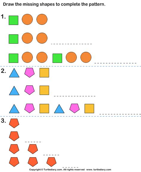 growing pattern in math growing pattern worksheet 1 turtle diary