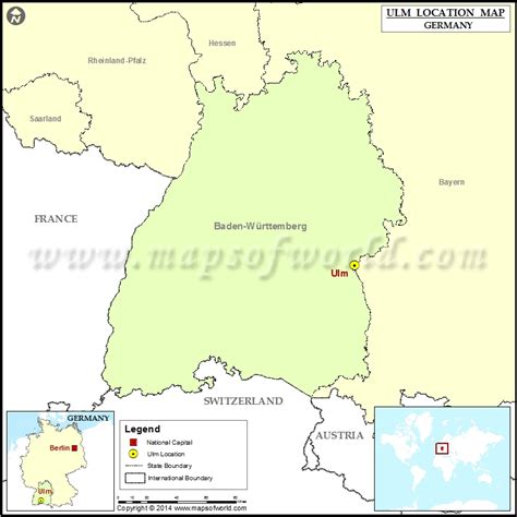 map of ulm germany where is ulm location of ulm in germany map