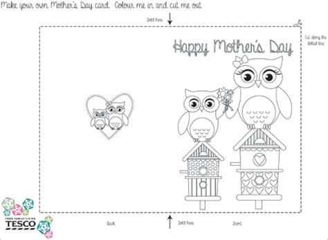 mothersday card template my owl barn printable s day coloring card templates