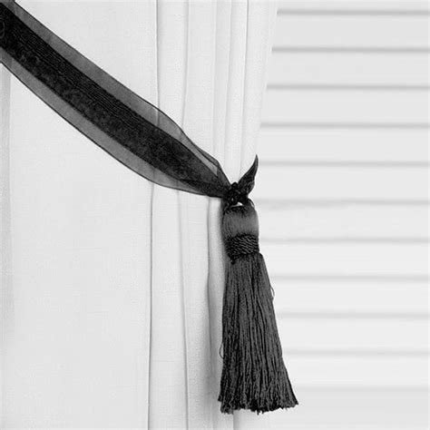 tassel curtain tie backs tassel tieback organza ribbon curtain tie backs ebay