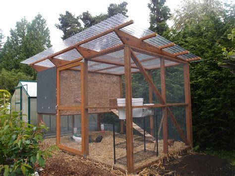 run with metal roofing the chicken coop is done enough northwest edible