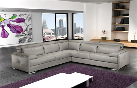 gray leather sectional gary ash gray italian leather sectional sofa sectional