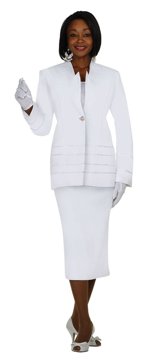 usher suits white g23108 s 3 skirt