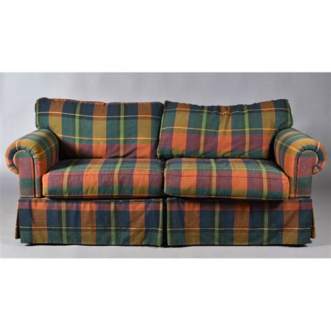 blue plaid sleeper sofa plaid sofas decoration plaid sofa thesofa