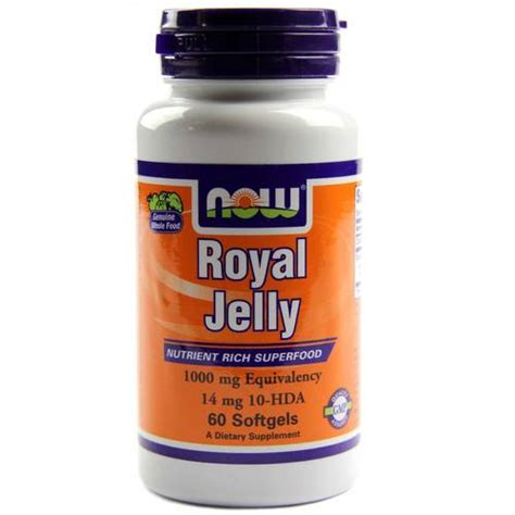 Royal Jelly And Detox now foods royal jelly 60 softgels evitamins