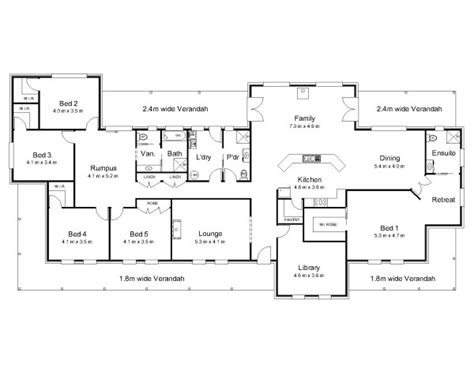 6 Bedroom House Plans Australia The Bligh 171 Australian House Plans 4 Beds 1 Bath I