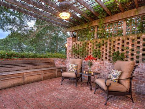 patio with pergola 25 brick patio design ideas designing idea