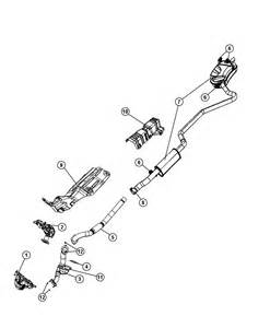 Parts In Exhaust System 2009 Dodge Journey Exhaust System
