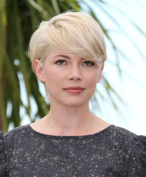 professional hairstyles for oval face michelle williams actress pictures from