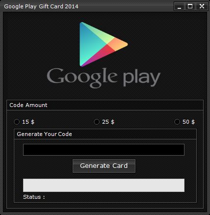 Google Play Online Gift Card - google play gift card code generator 2014 codigo pinterest cart 245 es de