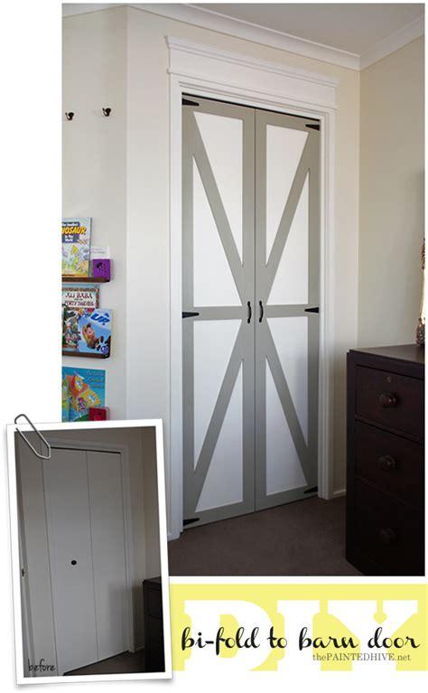 Bi Fold Barn Doors The Painted Hive Converting Bi Folds To Barn Doors