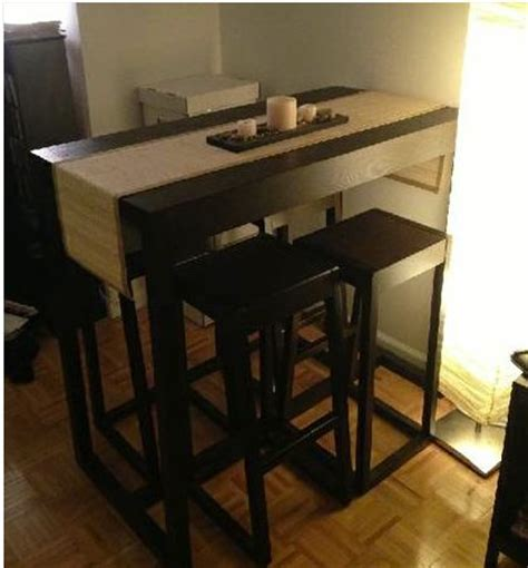 small kitchen table with stools the bk lounge