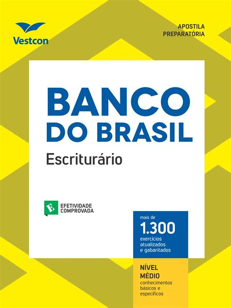 banco do barsil apostila banco do brasil 2018 escritur 225 editora vestcon