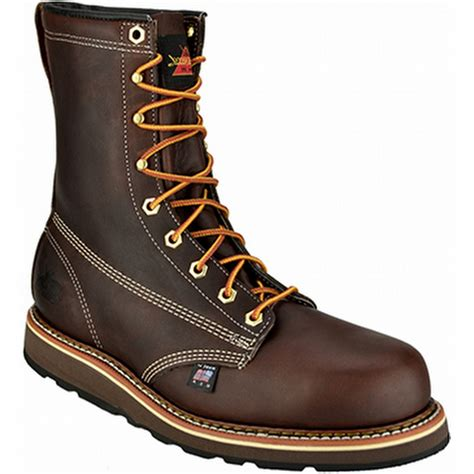 wedge sole work boots thorogood amercan heritage 8 quot steel toe wedge sole work