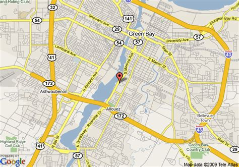 green bay map map of residence inn green bay green bay