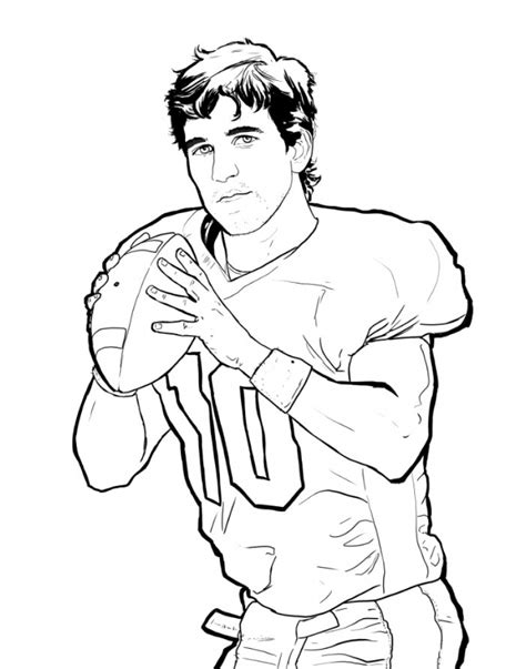 American Football Club New England Patriots Coloring Pages Tom Brady Coloring