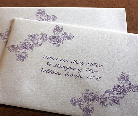 addressing wedding invitation envelopes lace custom wedding address labels jpg 700 215 590