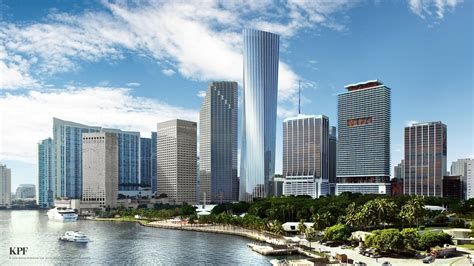 Miami Sheds by Miami Tower One Bayfront Plaza To Ground In